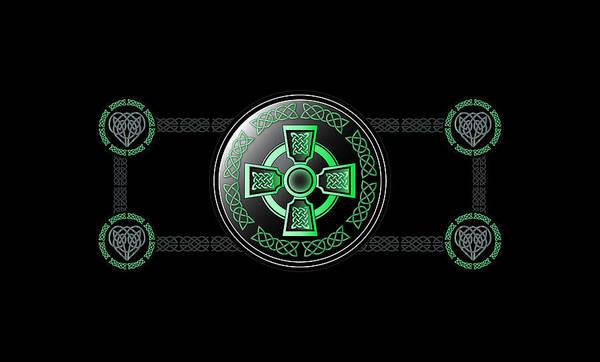 Wall Art - Digital Art - Celtic Cross by Ireland Calling