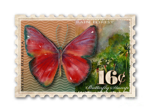 Painting - 16 Cent Butterfly Stamp by Amy Kirkpatrick