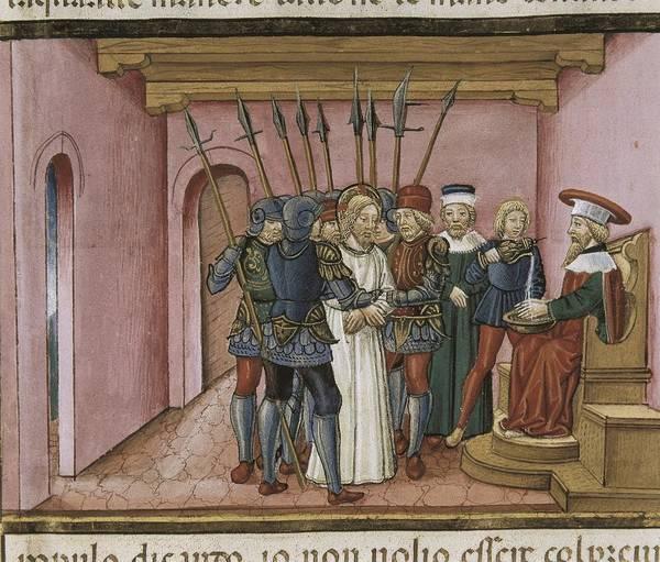Pontius Pilate Wall Art - Photograph - De Predis, Cristoforo 1440-1486 by Everett