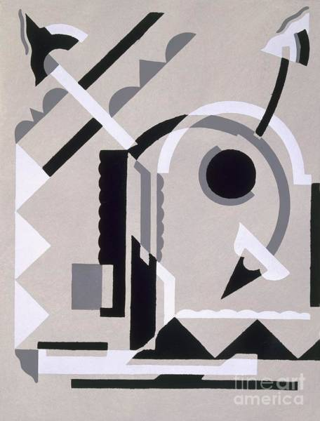 Linear Painting - Design From Nouvelles Compositions Decoratives by Serge Gladky
