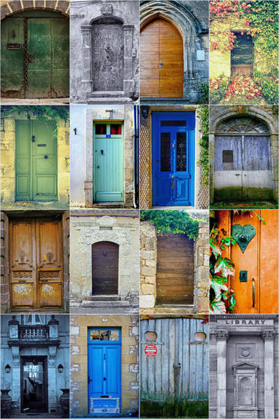 Photograph - 16 Doors In France Collage by Georgia Fowler