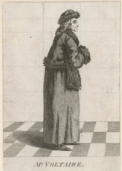 Tile Drawing - Francois-marie Arouet (1694 - 1778) by Mary Evans Picture Library