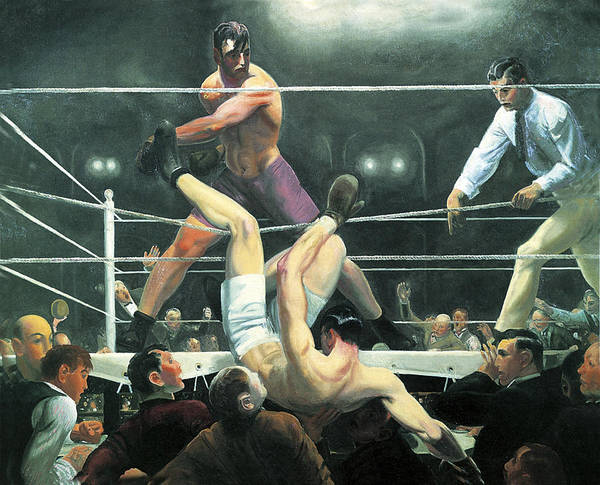 Photograph - Dempsey And Firpo by George Wesley Bellows
