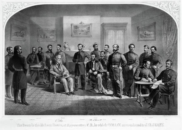 Courthouse Painting - Lee's Surrender, 1865 by Granger