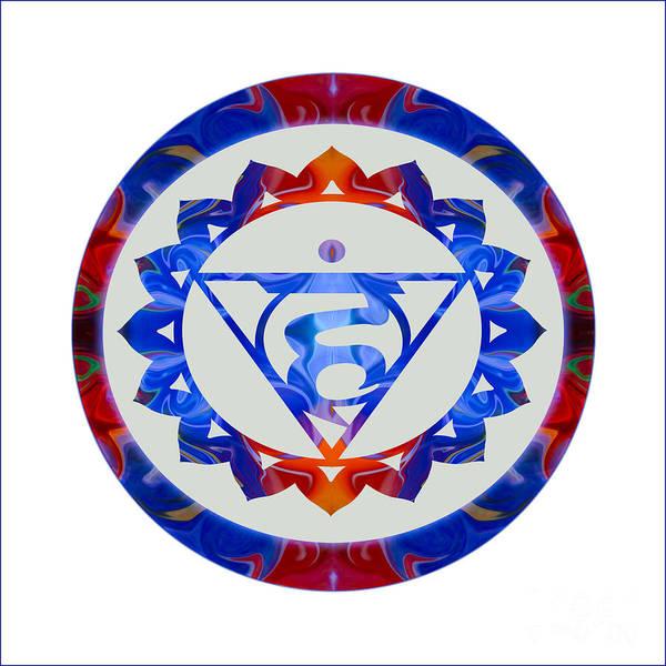 Digital Art - 16 Lotus Petals Vishuddha Abstract Chakra Art By Omaste Witkowsk by Omaste Witkowski