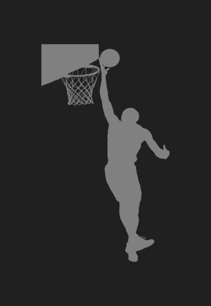 Court Photograph - Nba Shadow Player by Joe Hamilton