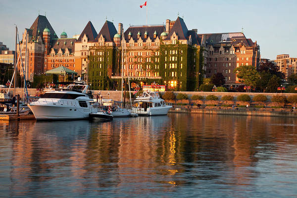 Victoria Harbor Wall Art - Photograph - North America, Canada, British by Terry Eggers