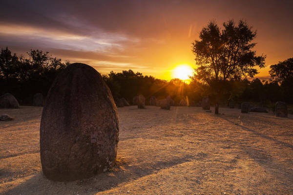 Gaelic Photograph - Sunrise At Almendres Cromlech by Andre Goncalves