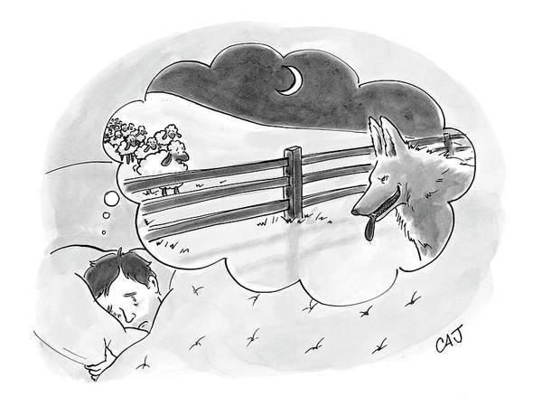 Fence Drawing - New Yorker April 2nd, 2007 by Carolita Johnson