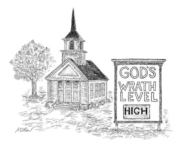 Religion Drawing - New Yorker February 6th, 2006 by Edward Koren