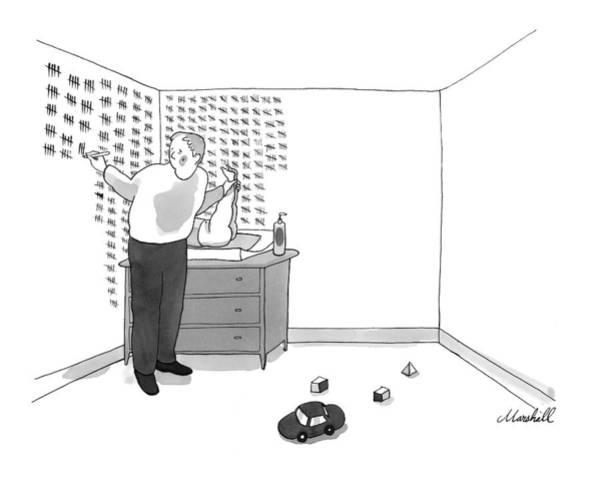 Chores Drawing - New Yorker May 4th, 2009 by Marshall Hopkins