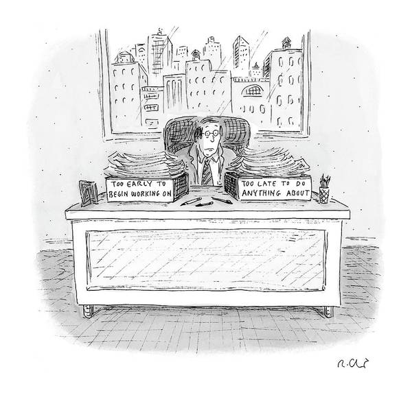 Late Drawing - New Yorker December 6th, 2004 by Roz Chast