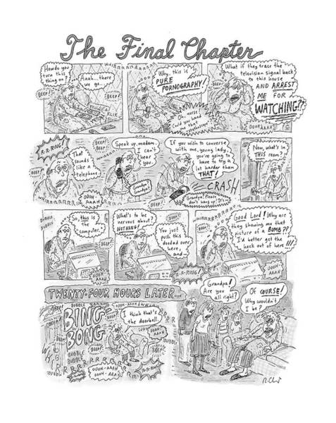 Hollywood Drawing - New Yorker December 17th, 2001 by Roz Chast