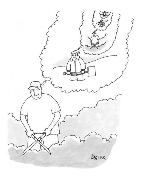 Chores Drawing - New Yorker July 31st, 2006 by Jack Ziegler