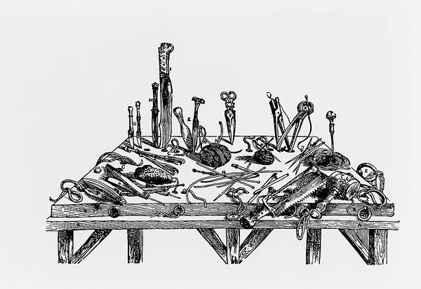 De Humani Corporis Fabrica Photograph - 16th Century Dissecting Tools by Science Photo Library