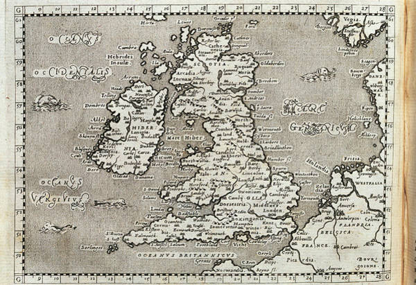 Cartography Photograph - 16th Century Map Of The British Isles by George Bernard/science Photo Library