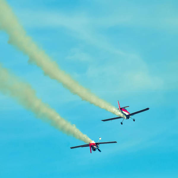 Photograph - Action In The Sky During An Airshow by Alex Grichenko