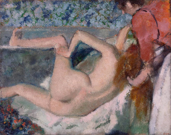 Impressionistic Drawing - After The Bath by Edgar Degas
