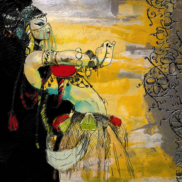 Belly Dance Painting - Abstract Belly Dancer 9 by Corporate Art Task Force