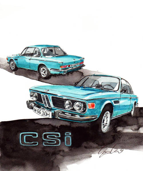 0 Wall Art - Painting - Bmw 3.0 Csi by Yoshiharu Miyakawa