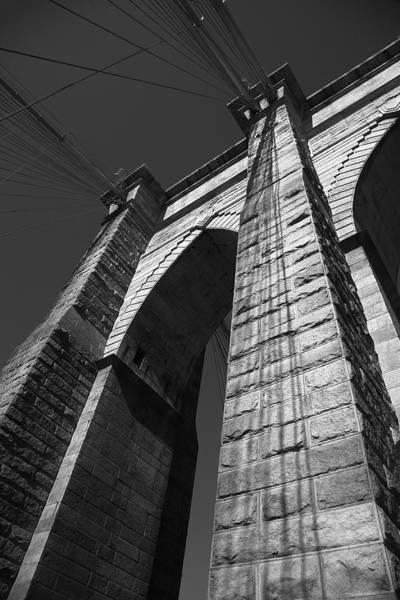 Photograph - Brooklyn Bridge - New York City Bw 2 by Frank Romeo