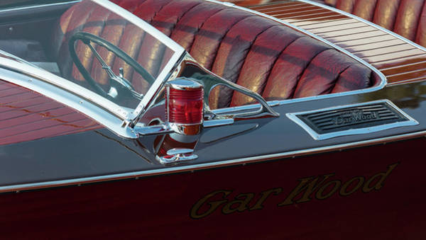 Outboard Engine Photograph - Classic Gar Wood by Steven Lapkin