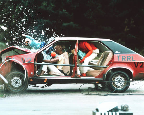 Wall Art - Photograph - Crash Testing by Trl Ltd./science Photo Library