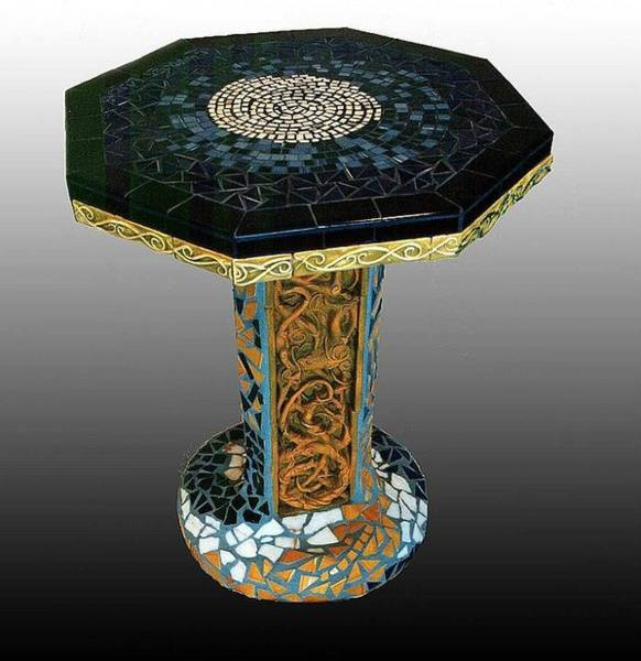 Ceramic Art - Mosaic Table  by Charles Lucas