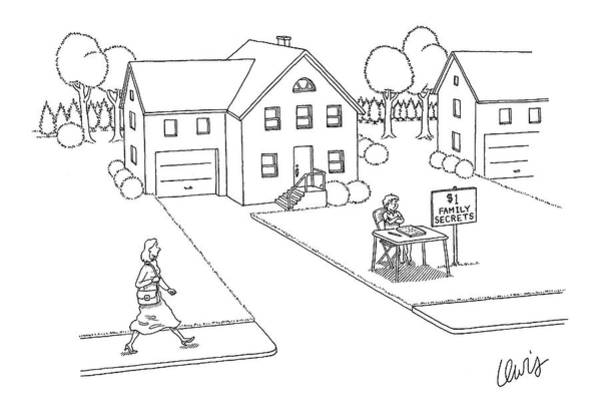 Front Yard Drawing - New Yorker November 7th, 2005 by Eric Lewis
