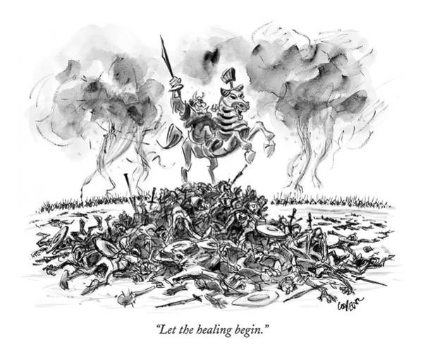 Pile Drawing - Let The Healing Begin by Lee Lorenz