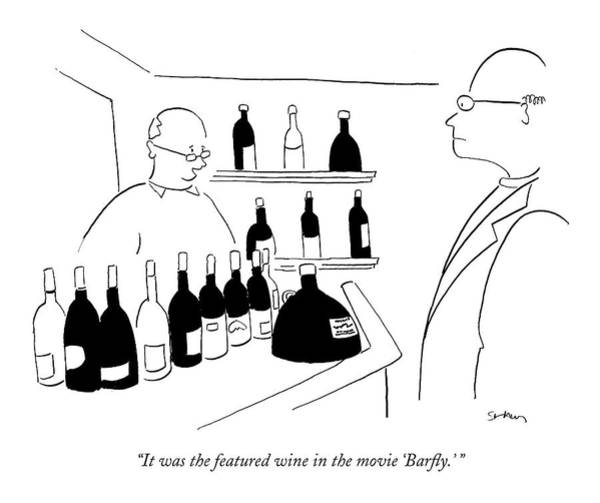 Wine Drawing - It Was The Featured Wine In The Movie 'barfly.' by Michael Shaw