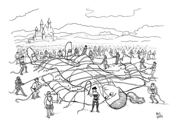 Dominatrix Drawing - New Yorker August 10th, 2009 by Paul Noth