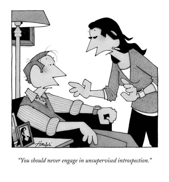 Emotions Drawing - You Should Never Engage In Unsupervised by William Haefeli