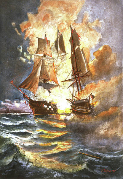 Excitement Painting - 1700s 1770s September 23 1779 John Paul by Vintage Images