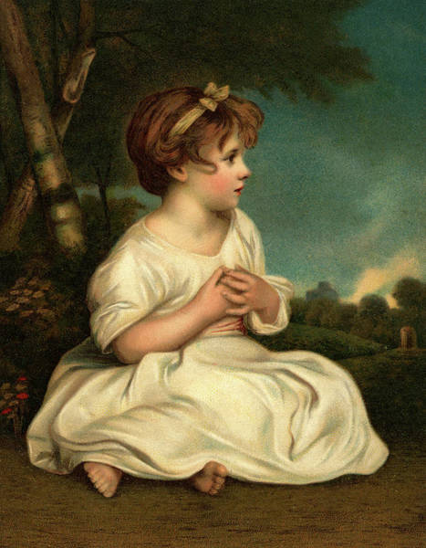 Virtue Painting - 1700s The Age Of Innocence Portrait by Vintage Images
