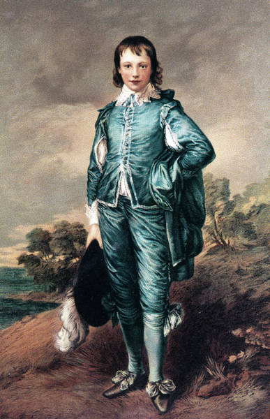 Thomas Gainsborough Wall Art - Painting - 1700s The Blue Boy Oil Painting by Vintage Images