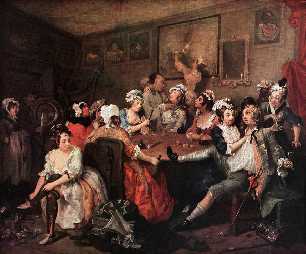 1700s The Orgy From Rakes Progress Art Print