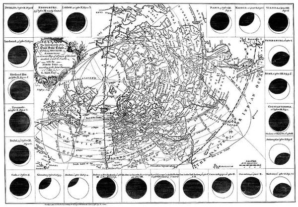 Totality Photograph - 1748 Solar Eclipse by Royal Astronomical Society/science Photo Library