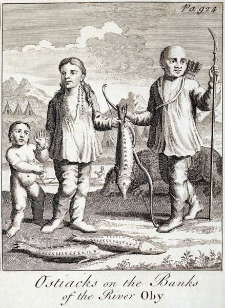 Sturgeon River Photograph - 1748 Tribal Ostiaks With Sturgeon Fish by Paul D Stewart
