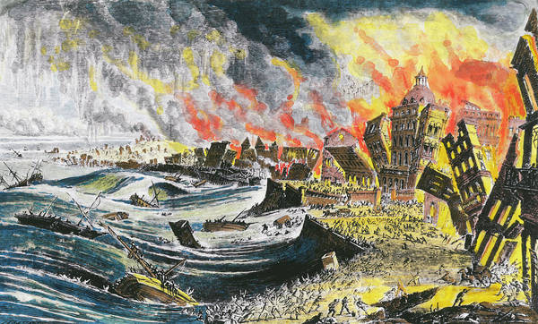 1755 Photograph - 1755 Lisbon Earthquake by Science Photo Library