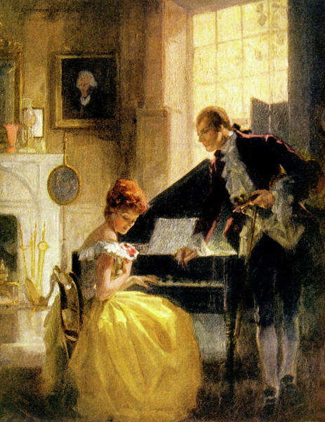 Togetherness Painting - 1770s 1771 The Proposal Of Thomas by Vintage Images