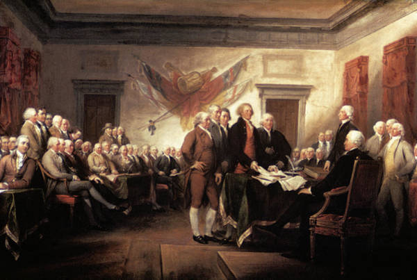 1776 Painting - 1776 Signing Declaration by Vintage Images