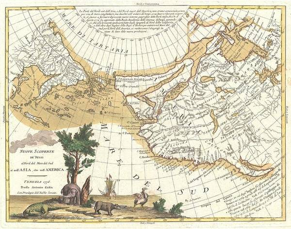 Emperor Of Japan Wall Art - Photograph - 1776 Zatta Map Of California And The Western Parts Of North America by Paul Fearn