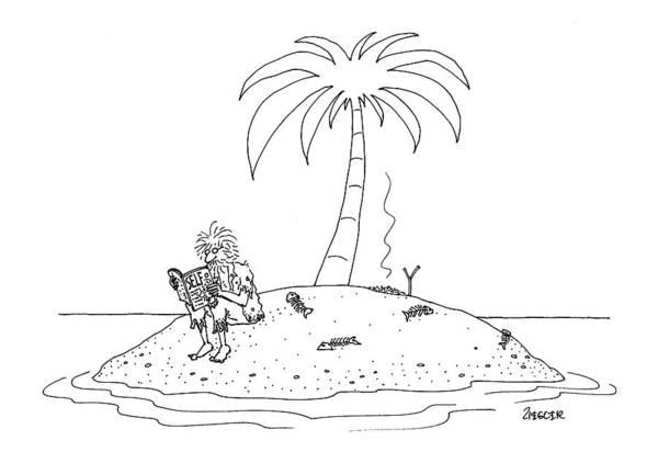 Shipwreck Drawing - New Yorker February 14th, 2000 by Jack Ziegler