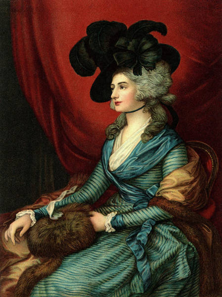 Thomas Gainsborough Wall Art - Painting - 1785 Portrait Of Sarah Siddons A Welsh by Vintage Images