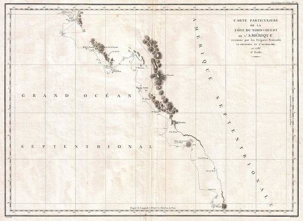Queen Charlotte Sound Wall Art - Photograph - 1786 La Perouse Map Of Vancouver And British Columbia Canada by Paul Fearn