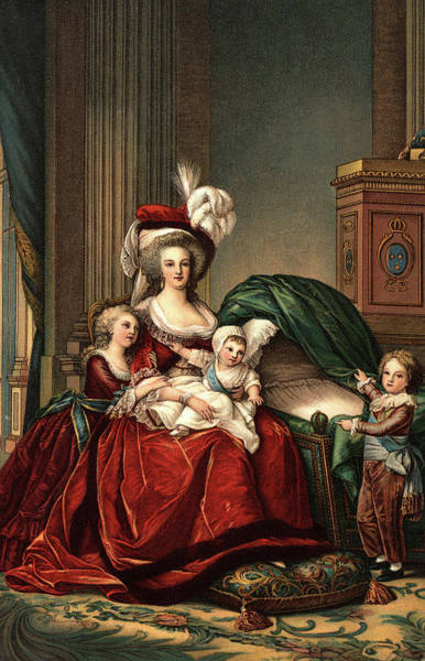 Wall Art - Painting - 1787 Portrait Of Marie Antoinette by Vintage Images