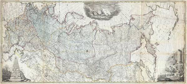 University Of Alaska Photograph - 1787 Wall Map Of The Russian Empire by Paul Fearn