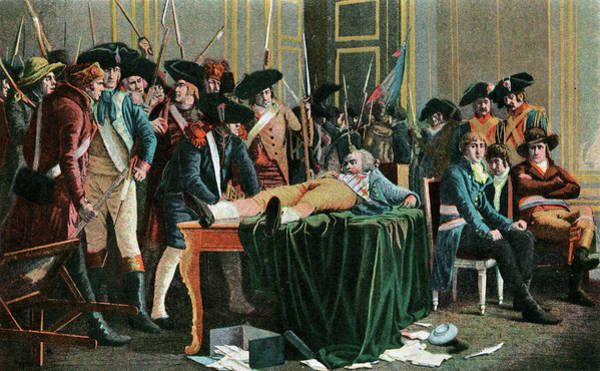 Wall Art - Painting - 1794 Wounded Robespierre Awaits by Vintage Images