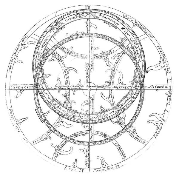 Historical Marker Photograph - 17th Century Astrolabe by Royal Astronomical Society/science Photo Library